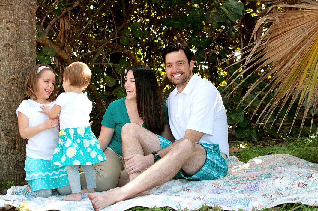 Family portrait session in Eau Gallie, FL - 6/13